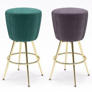 3D model eichholtz bar stool bolton