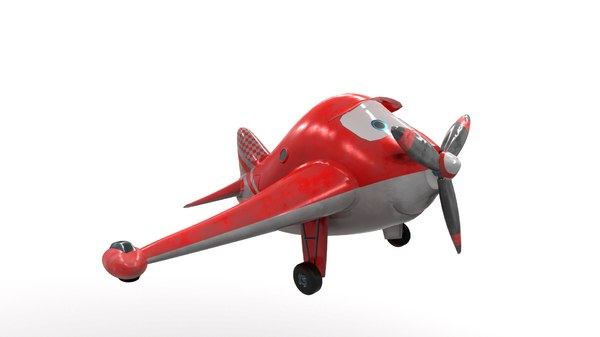 3D model cartoon airplane hero