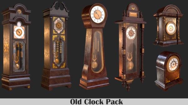 3D old clock pack