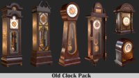 3D old clock pack