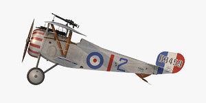 nieuport 17 fighter aircraft 3D