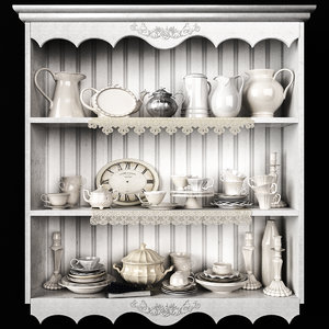 3D model provence decor set