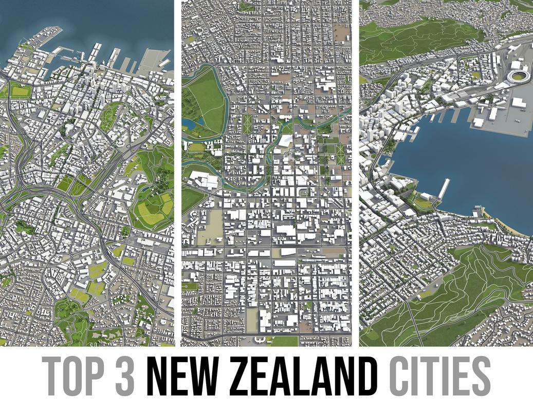 3D new zealand city model