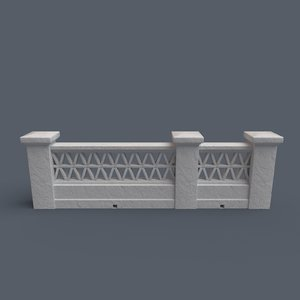 mediterranean fence bricks walls 3D