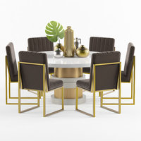Boca Round Dining Table And Chair