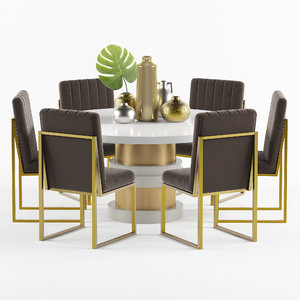 boca dining table chair model