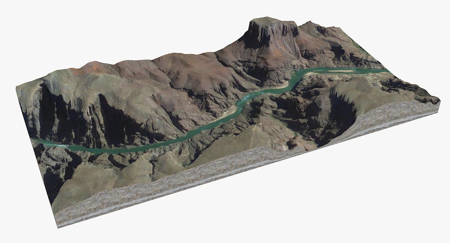 landscape grand canyon 3D model