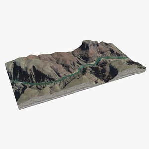 landscape grand canyon 3D model