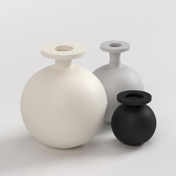 3D vase lundi set