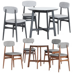 cult furniture sybil table chair 3D model
