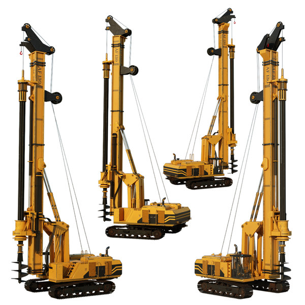 drilling rig ready 3D model