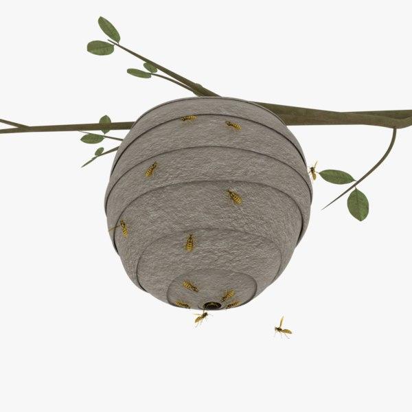 wasp nest 3D model