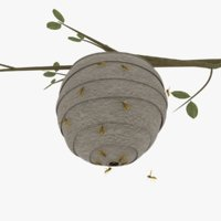wasp nest 3D model