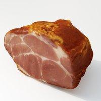 3D model smoked pork