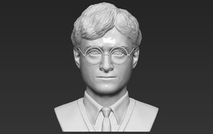 potter bust ready printing 3D