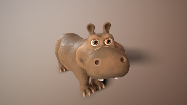 animate hippo model