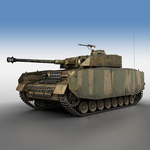 3D german panzer 4 ausf