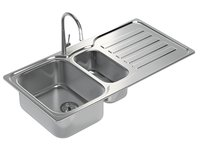 Kitchen Sink with double Bowl, Tap and Drain