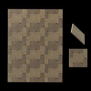 3D model panel size 60x60x4