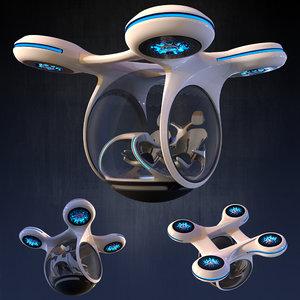drone transport 3D model