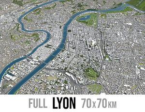 city lyon 3D model