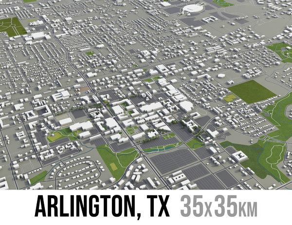 city arlington texas surrounding model
