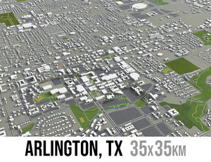 city arlington texas surrounding model
