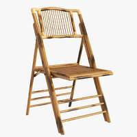 Folding bamboo chair