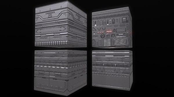 3D sci-fi trim sheet