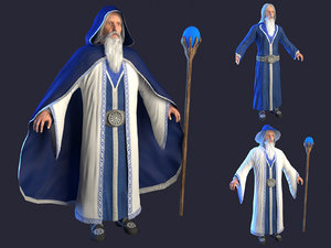 3D wizard hat model