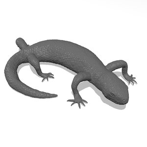 printable mexican beaded lizard 3D model