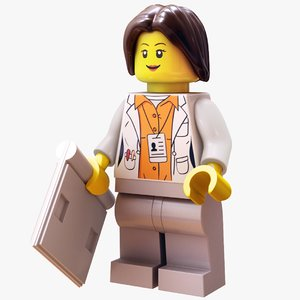3D lego doctor - rigged model