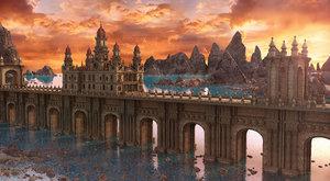 3D castle bridge fantasy