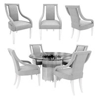 3D table chair arms dining model