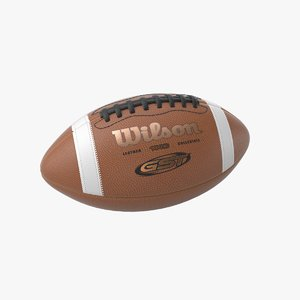football ball wilson 3D model