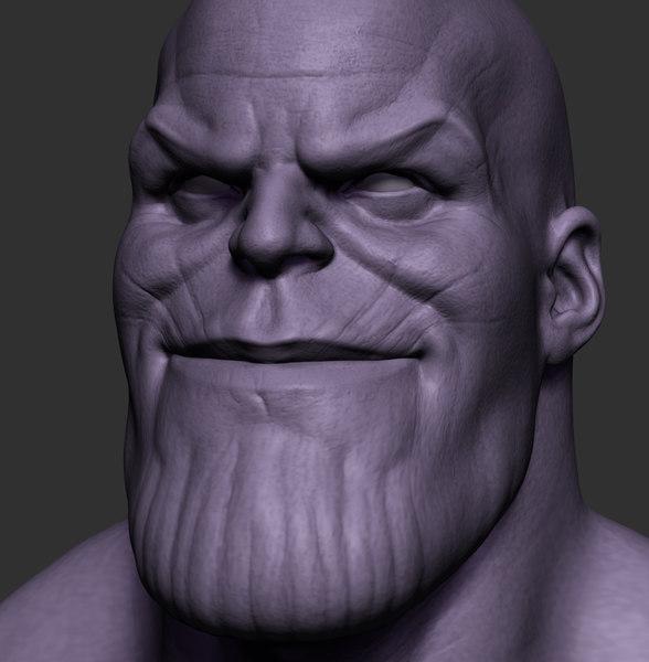 thanos bust 3D model