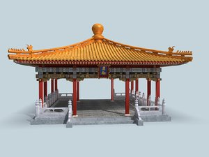 3D traditional chinese building model