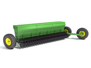 seed drill planter 3D model