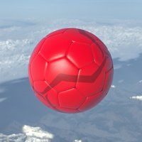 beach soccer football ball 3D