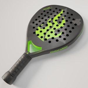3D model paddle pbr