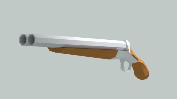 3D sawed-off shotgun