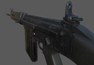 3D model l1a1 rifle slr
