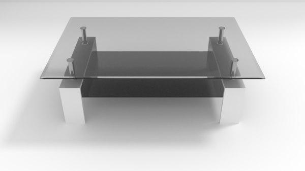 livingroom table - glass model