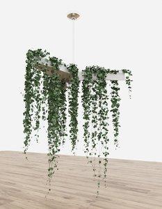 plant decor planter 3D model