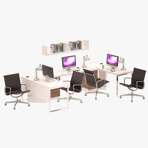 workstation set 3D