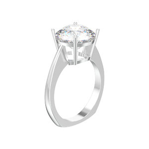 3D simple solitaire ring gemstone
