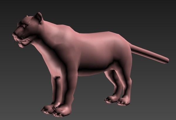 tiger animal mammal 3D model