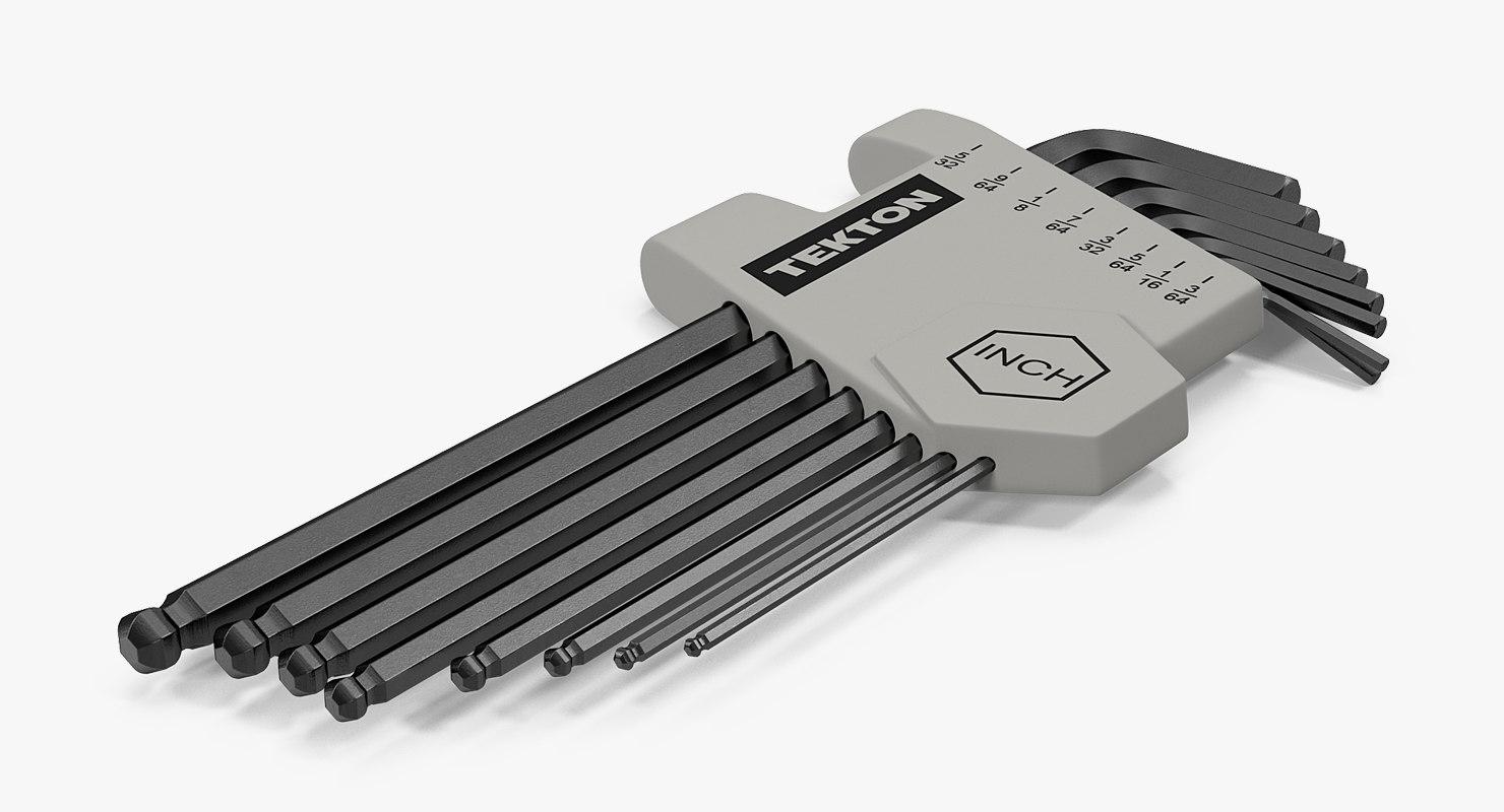 tekton hex key long 3D model