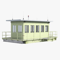 3D watchman cabin model
