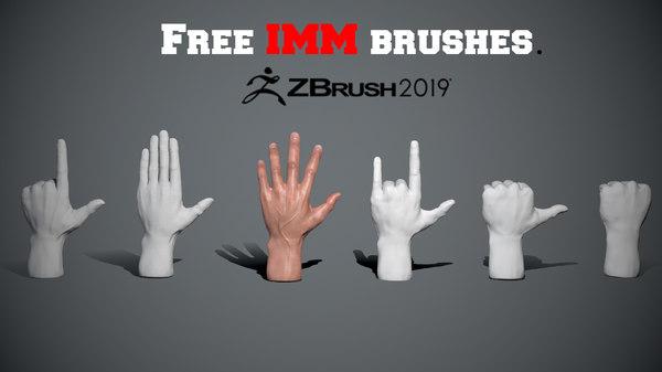 imm brushes 3D model